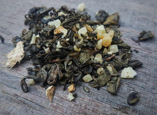 פירות מיובשים טבעיים - ג'ינגר תה ירוק
