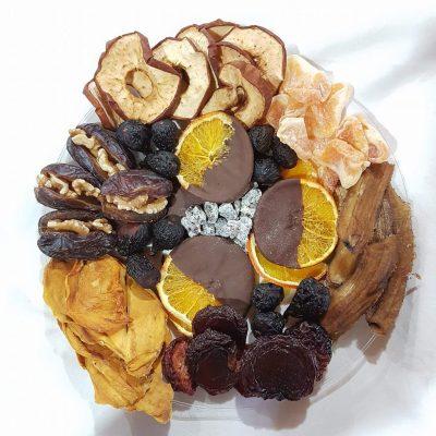 עידן הפרי - פירות מיובשים טבעיים - מגש ממתקים מהטבע